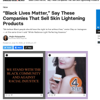 BLM & Skin Lightening